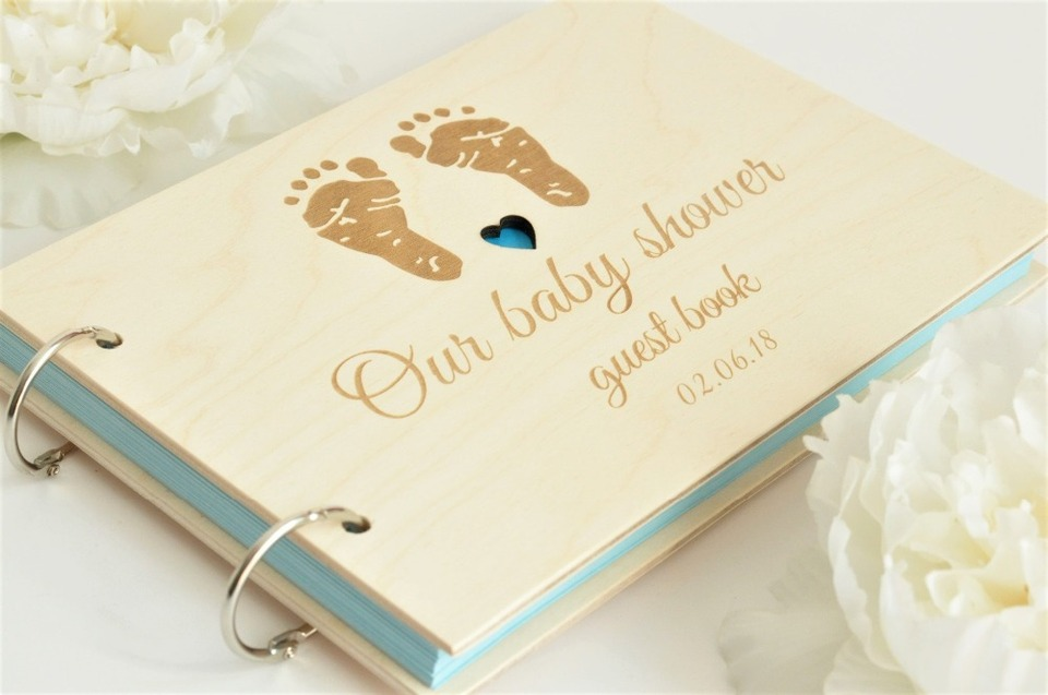 Party /& 1st Birthday Signature Book Baby Shower Guest Book Canvas Linen Baby Girl Birthday Guestbook Custom Memory Book