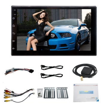7 Inch 2 Din Android 8.0 Car Multimedia Universal Player Car Gps Navigation Integrated Machine Smart 2.5D Tempered Screen Blueto image