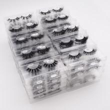 10-50 Pack/Lot Fluffy Mink Lashes Wholesale Makeup False Eyelashes Wispy Natural Short Mink Lashes