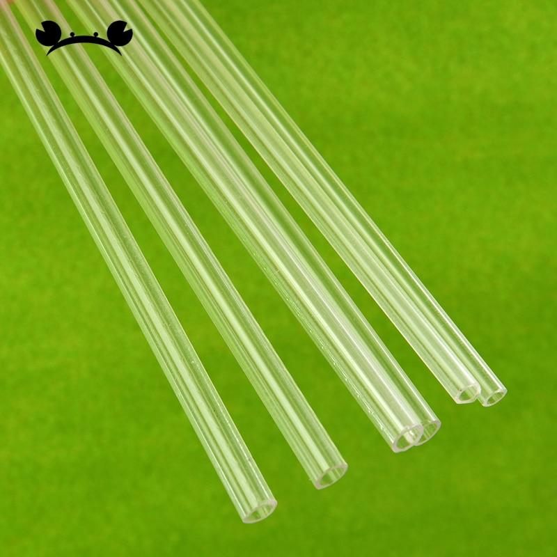 sourcing map S/ólida Acr/ílica redonda Barra Recta Tubo verde PMMA Barra 8mmx500mm 2uds