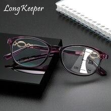 Men Women Multifocal Reading Glasses Progressive Bifocal Anti Blue Light UV Protect Presbyopic Eyeglasses Computer Eyewear 2020