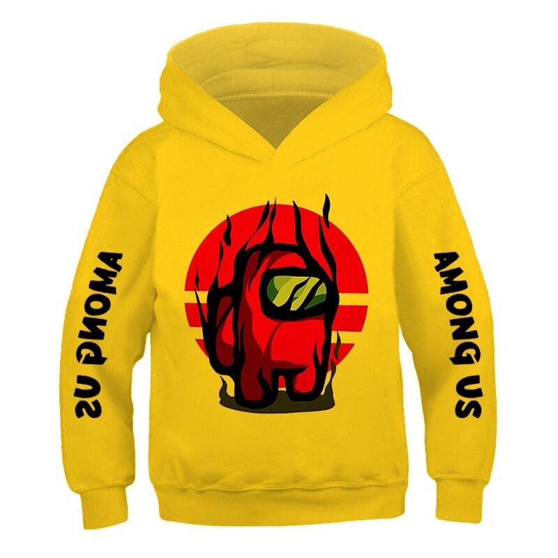 Children's Street Style Games Hip ho 3-14Years Among Us Kids Size comic fashion Hoodie Boys&Girls Long Sleeve Hooded Sweatshirts 6