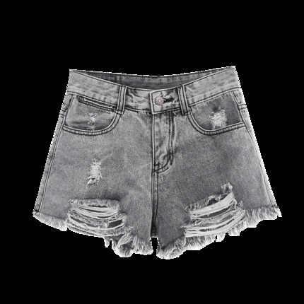 Neue Heiße Sommer frauen Jeans Hohe Taille Sex Loch Denim Shorts Lose Grau Jeans Kurze Hosen Feminino Marke Plus größe LX1723