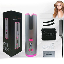 USB Rechargeable Curling Iron Automatic Fast Heating Ceramic Barrel Hair Curlers