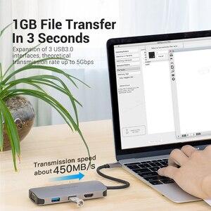 Image 4 - Vention USB HUB C 3.1 분배기 HDMI VGA USB 3.0 PD 어댑터 MacBook Pro 용 USB C 도크 화웨이 메이트 30 Samsung S10 Type c hub
