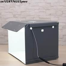 Baru Sanoto Mini Photo Studio Box Fotografi Backdrop Portable Softbox Lampu LED Photo Box Lipat Photo Studio Soft Box(China)