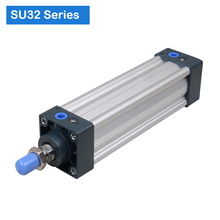 SU32  Series Bore 32 stroke 25 1000 Air Cylinders Double Acting Single Rod  pneumatic cylinder price SU series cylinder SU32X100