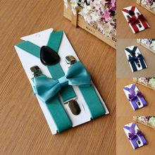 Комплект из подтяжки и галстука-бабочки для детей, Регулируемый Детский Свадебный комплект для мальчиков, новинка года