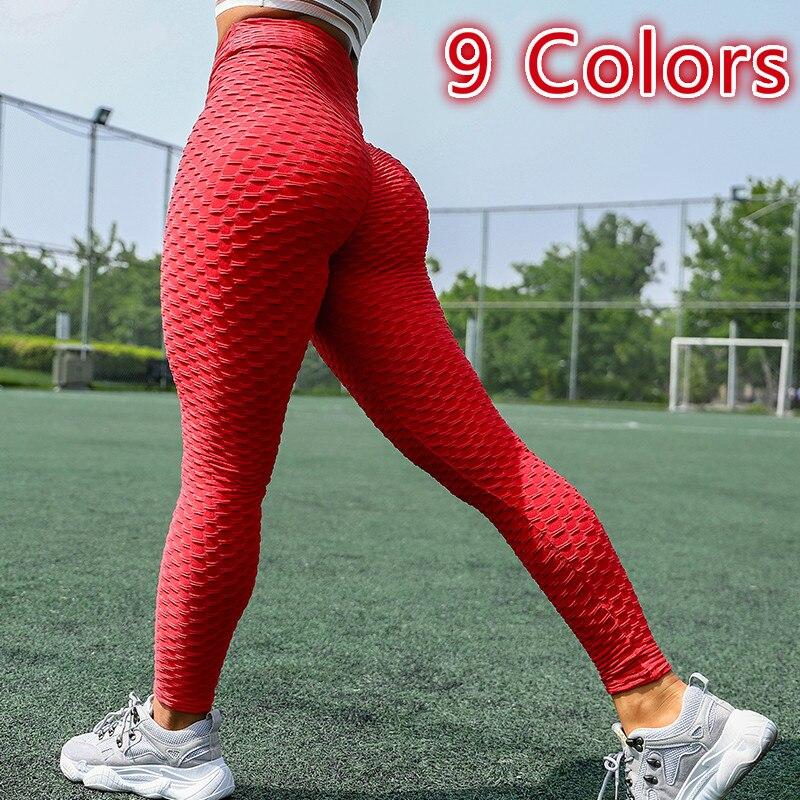 Леггинсы женские с эффектом пуш-ап, для фитнеса и тренировок, пикантные антицеллюлитные Спортивные Мягкие с завышенной талией, черные розов...
