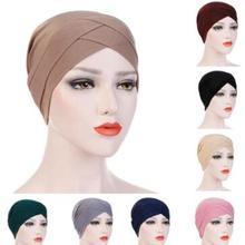 D2W 10 шт. полное покрытие внутренние шапочки под хиджаб мусульманский эластичный тюрбан шапка исламский подшарф капот одноцветное, из модала под шарф шапки turbante
