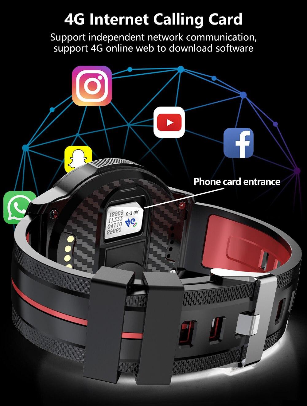 Montre intelligente 4G Android double caméra AI visage déverrouille