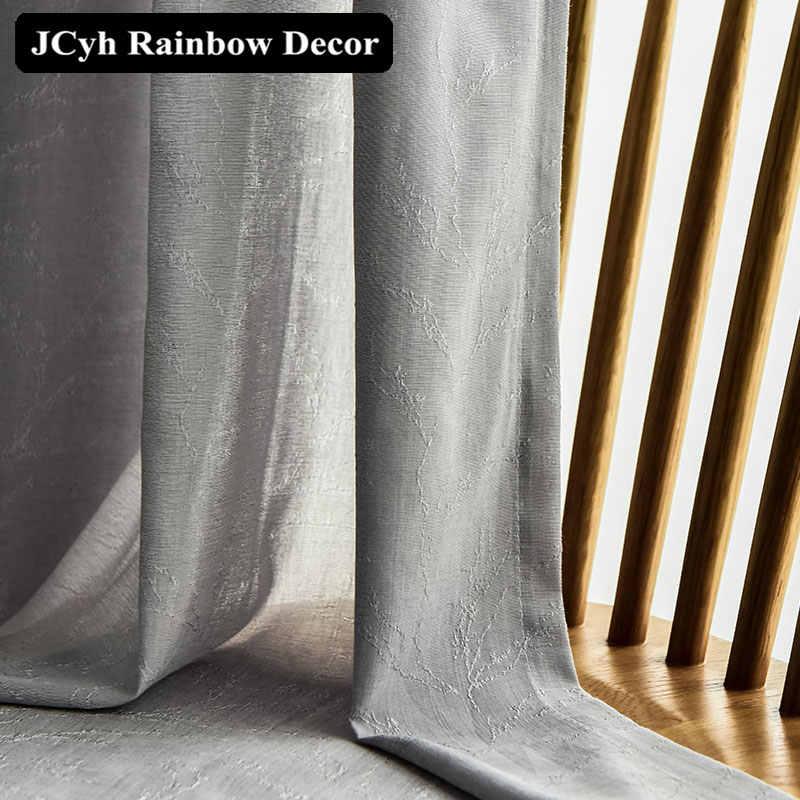 JCyh Super suave cortinas de tul modernas para sala de estar dormitorio Twig Voile cortinas transparentes para persianas tratamiento de decoración del hogar