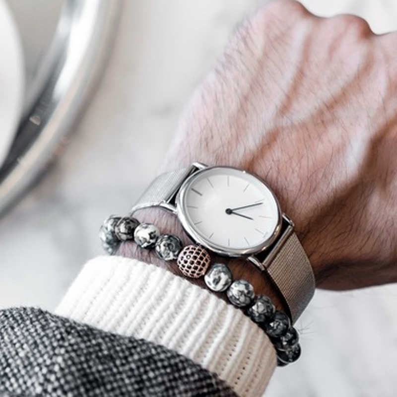 Mcllroy Natuursteen Kralen Armbanden Voor Mannen Vrouwen Handgemaakte Diy Mannen Armband Ingelegd Zirkoon Armbanden Armbanden Groothandel