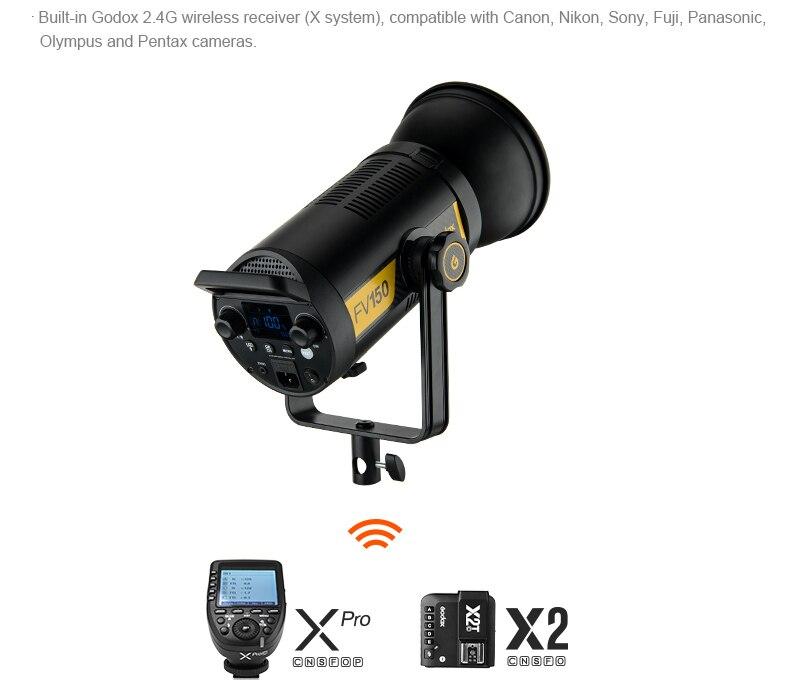Image 3 - Godox FV150 150 Вт FV200 200 Вт высокоскоростной синхронизационный светодиодный светильник со встроенным беспроводным приемником 2,4G + пульт дистанционного управления Xpro GodoxФотографическое освещение    АлиЭкспресс