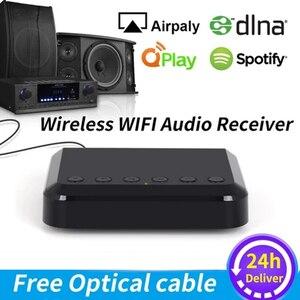 Image 1 - WR320 محول الموسيقى اللاسلكي Airplay DLNA متعدد الغرف واي فاي استقبال الصوت اللاسلكي للسماعات التقليدية HiFi Spotify