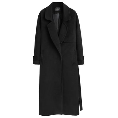 NEW Woolen Coat Female Long Section Autumn And Winter 2019 New Wild Casual Loose Slim Slimming Over The Knee Coat Trench Coat