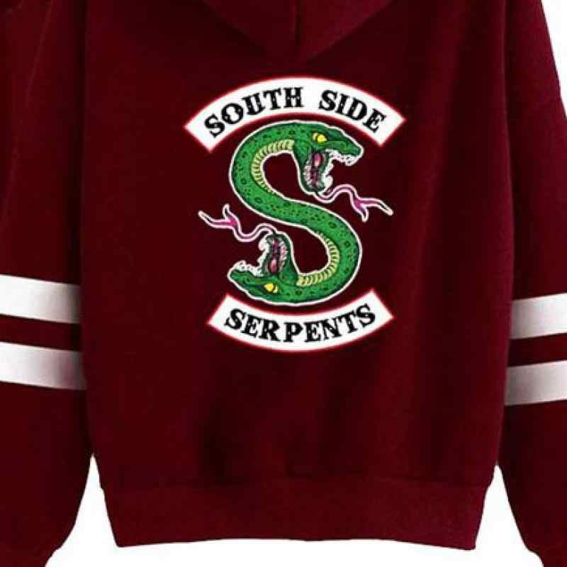 Riverdale Southside Schlangen Harajuku Sweatshirt Hoodie Frauen South Side Serpents Snake Print Hoody Weibliche Cosplay Kostüme
