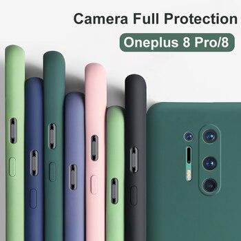 Перейти на Алиэкспресс и купить Чехол OEING для Oneplus 8 Pro, роскошный ударопрочный официальный жидкий силиконовый чехол с полным покрытием для камеры, мягкий Бархатный Чехол дл...
