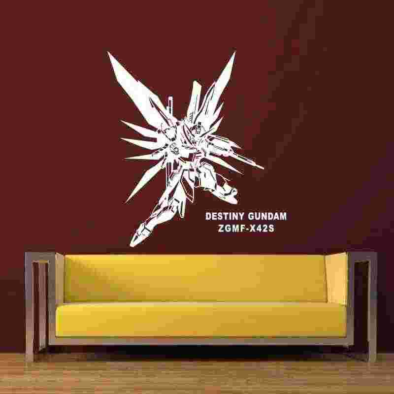 GUNDAM duvar çıkartması vinil duvar çıkartmaları çıkartması dekor ev dekoratif dekorasyon Anime Destiny Gundam araba Sticker