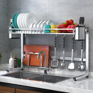 Drying-Rack Drainers Over-Sink Kitchen-Sink-Racks--Holders Stainless Organization Expandable