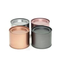 Мини металлическая упаковка герметичный ящик для хранения чайных коробок 6 шт./лот круглые жестяные банки контейнеры для свечей 3 цвета качественные кухонные железные банки