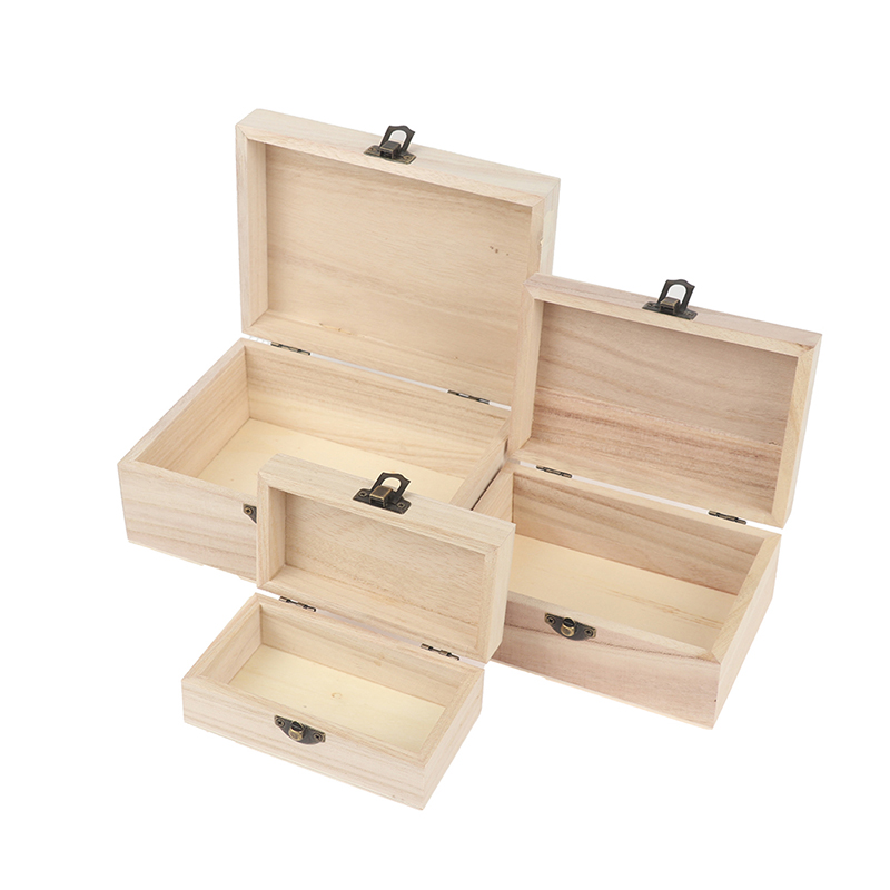 1PC New Style Portable Multifunction Case with Lid Wooden Jewellery Earring Necklace Storage Container Box for Home Supply Decor