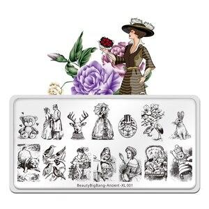 Штамповочные пластины Bigbang для ногтей, новые животные, мишка, красота, король, персонаж, дизайн ногтей, штампы для дизайна ногтей, шаблоны в с...