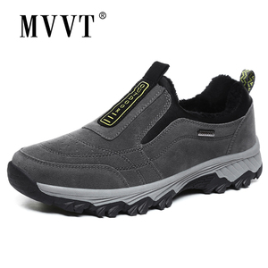 Image 2 - Outdoor Shoes Winter Suede Leather Men Shoes Fur Warm Casual Shoes Men Outdoor Men Sneakers Non slip Snow Shoes Hot Men Footwear