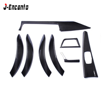 9 pcs For BMW F30 3 Ser GT 4 F36 Carbon Fiber Interior Trim RHD/LHD Gloss Black Car interior stickers