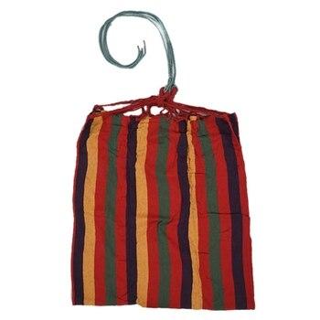 أرجوحة التخييم خفيفة مع حقيبة الظهر قوس قزح الترفيه في الهواء الطلق واحدة قماش الأراجيح