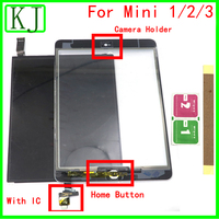 For iPad Mini 1 / 2 / 3 LCD Display Touch Screen Digitizer Front Glass + IC Home Button A1489 A1490 A1599 A1600 A1432 A1454