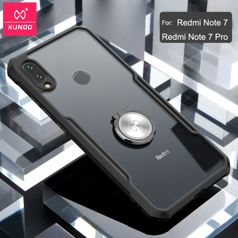 For <font><b>Xiaomi</b></font> <font><b>Redmi</b></font> Note <font><b>7</b></font> Ring Case чехол XUNDD Airbag Shockproof Transparent PC TPU Bumper <font><b>Back</b></font> <font><b>Cover</b></font> for <font><b>Redmi</b></font> Note <font><b>7</b></font> Pro Case image