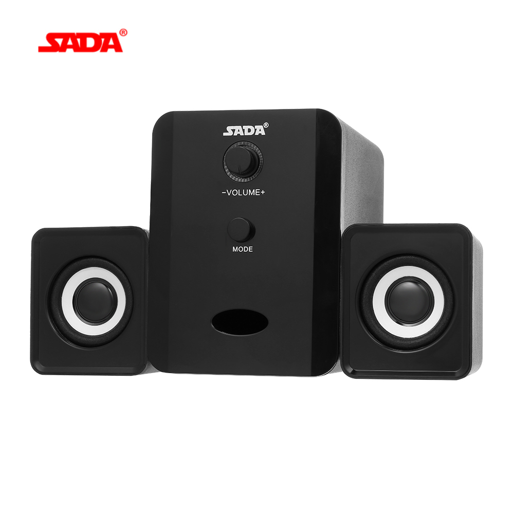 Sada Usb Wired Bluetooth Speaker Set Portable Computer Speakers With Subwoofer Bass Soundbar For Home Theater Laptop Tablet Pc Portable Speakers Aliexpress