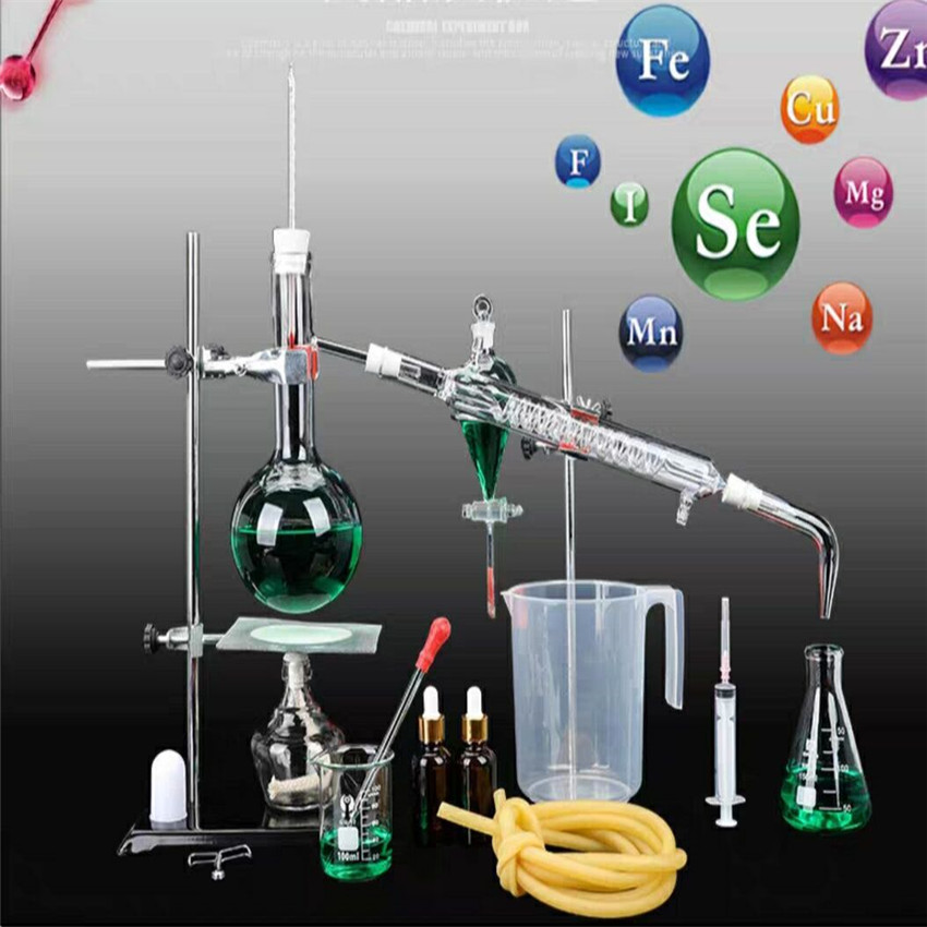 500ML Distiller Set Distillation Purification Essential Oil Extraction Chemical Experiment Purification Device