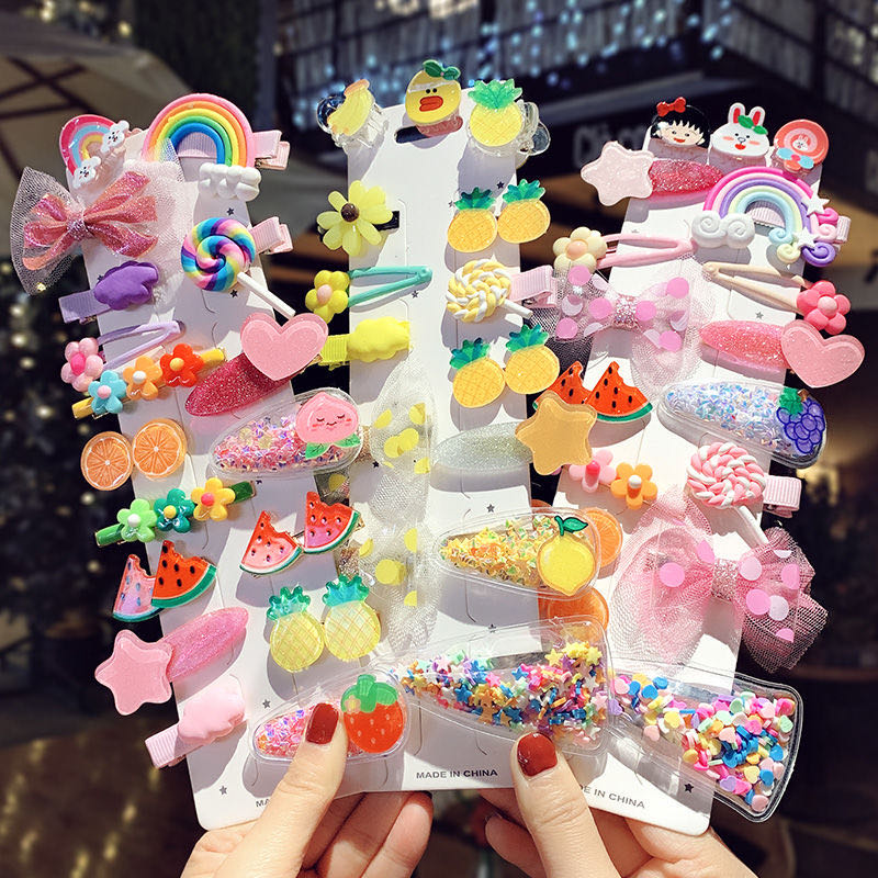 1Set High-quality Hair Clips For Girls Colorful Striped Hairpin Baby Barrettes Girls Accessories Headdress Hair Accessories