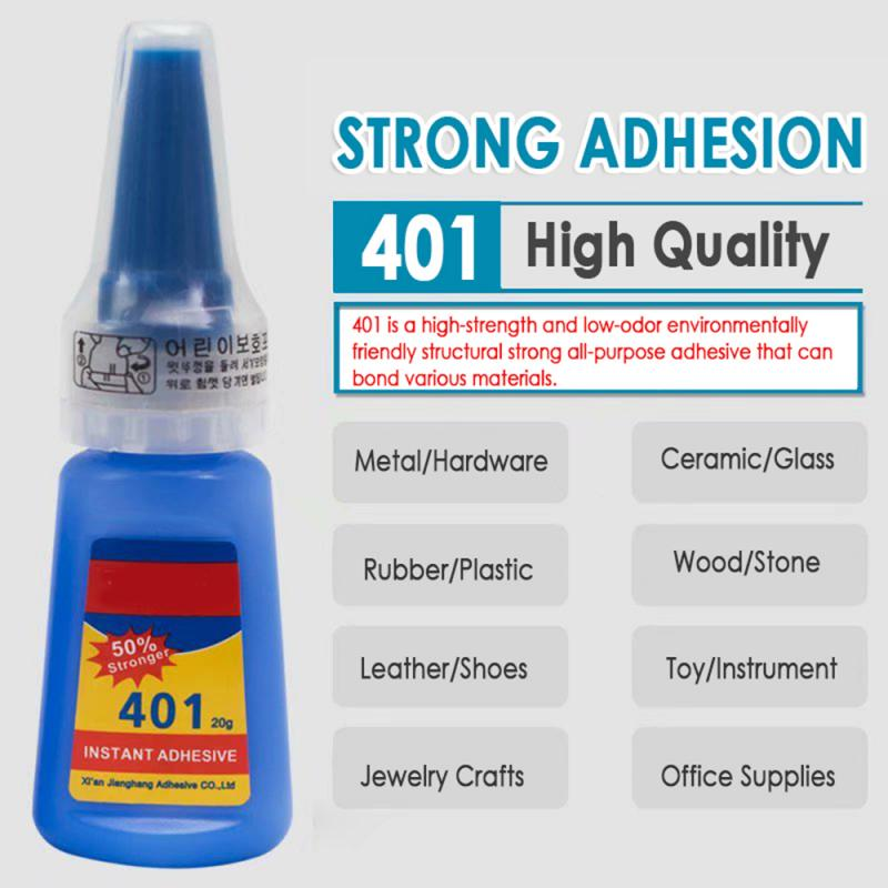 401 Rapid Fix Instant Fast Adhesive 20g Bottle Stronger Super Glue Multi-Purpose Handmade Jewelry Stone Universal Glue TSLM1