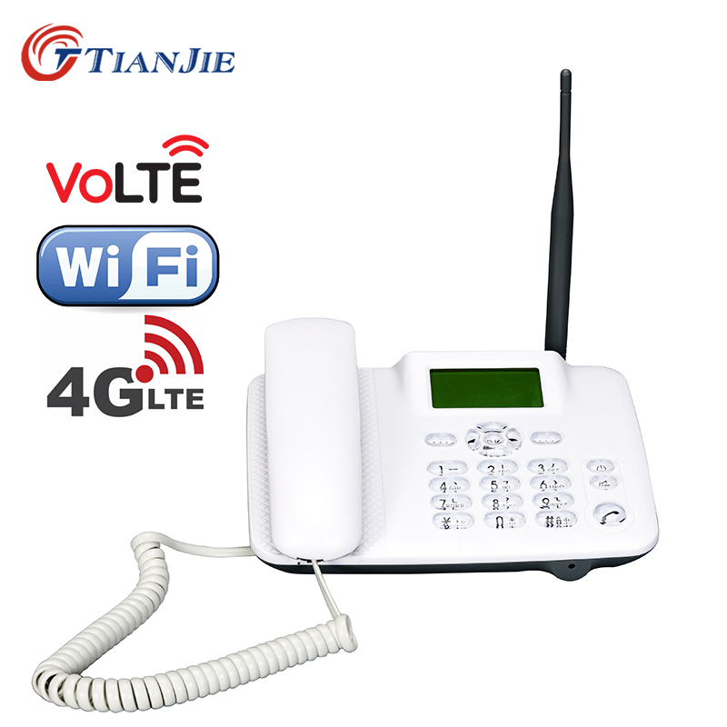 TIANJIE W101L 4G Wifi Router 4G Voice Call Telephone Volte 4g Landline Wifi Hotspot Desk Sim Card Slot Telephone Fixed Phone