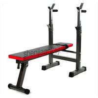 Multifunctional Weight Bench Weight Training Bench Barbell Rack Household Gym Workout Dumbbell Fitness Exercise Equipment 1pc