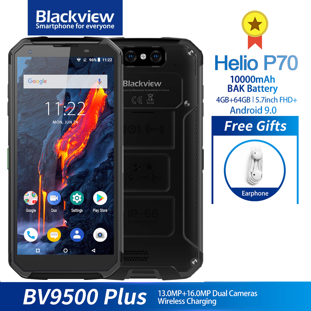 Blackview BV9500 Plus IP68 Waterproof <font><b>Smartphone</b></font> <font><b>10000mAh</b></font> Wi-Fi Charge Helio Octa Core 5.7'' 4GB 64GB Android 9.0 Mobile phone image