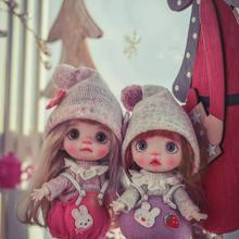 Handmade Doll OB11 Customization Mini with Wig Polymer-Clay Selling