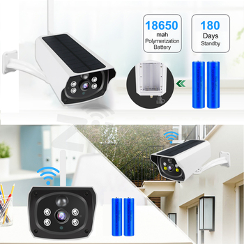 Solar Panel WIFI Camera 1080P HD Wire-Free Battery IP Camera Outdoor IP66 WaterProof 2MP Security CCTV Video PIR Two Way Audio 2