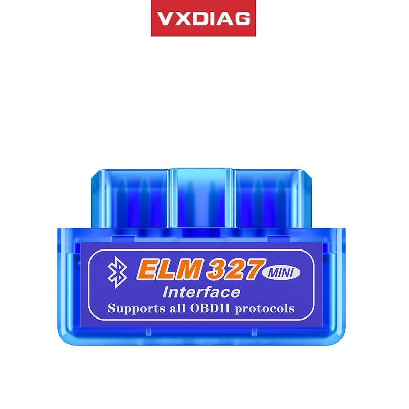 VXDIAG диагностика Мини elm327 сканер для диагностики авто OBD2 сканер Bluetooth V2.1/V1.5 считыватель кода obdii автомобильный диагностический инструмент дл...