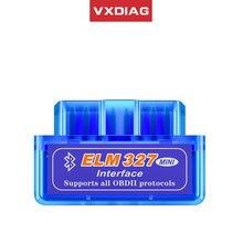 Vxdiag mini scanner automotivo, ferramenta de diagnóstico do leitor de código elm327 obd2, bluetooth v2.1/v1.5, obdii para android suporte all obd2 protocolos