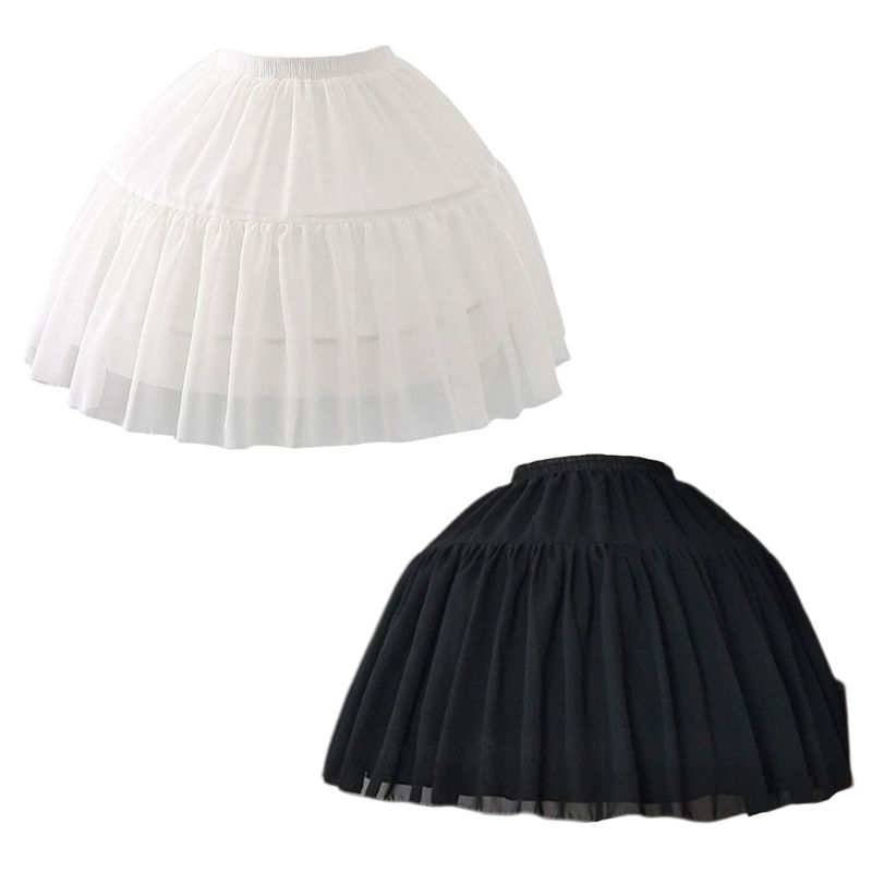 Soft Material Puffy Cosplay Fish-bone Short Skirt Lolita Carmen Slip Liner Cute Girls Skirts Adjustable Petticoat
