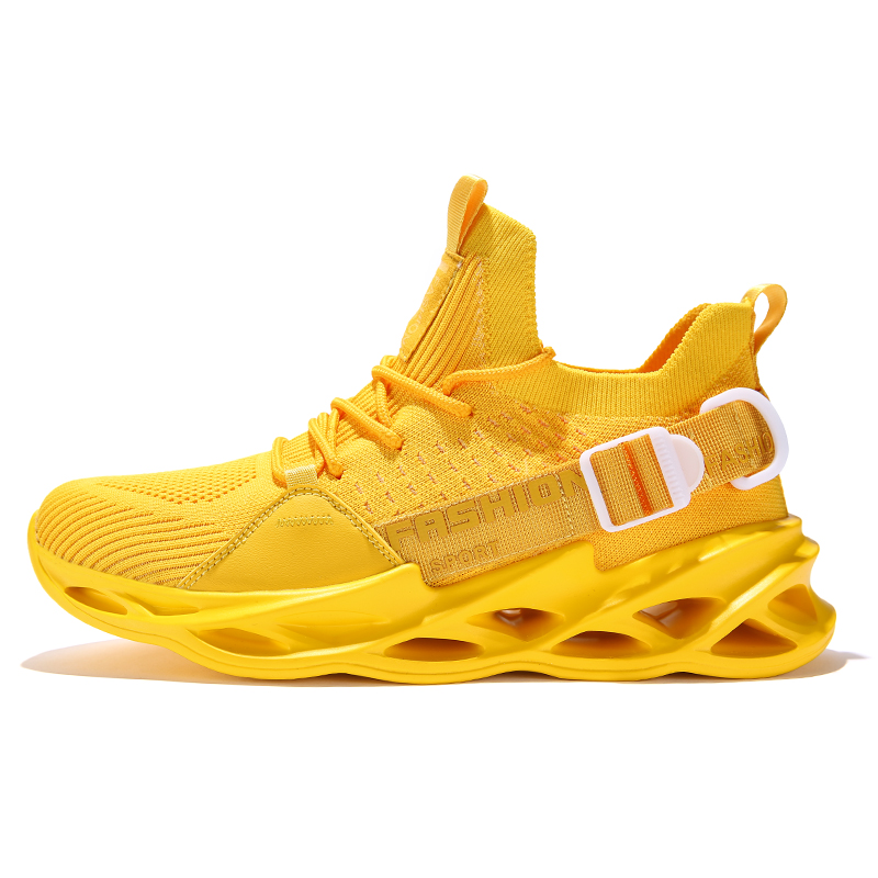 G133 Yellow-Couples Sneakers Casual Breathable Comfortable Sport Running Shoes