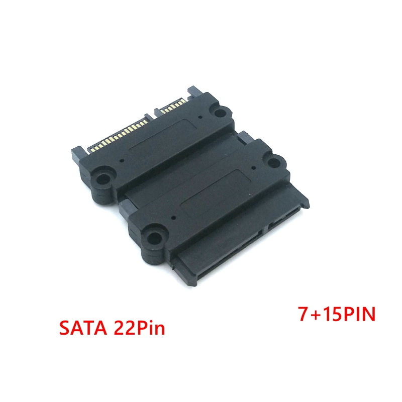 SATA Male To SATA Male Adapter Converter 22Pin Sata With 7pin+15pin FeMale To Male SATA Power Data Cable