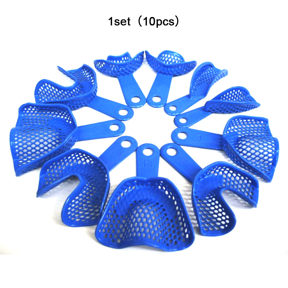 5 Pairs Dental Impression Tray Plastic-Steel Teeth Holders Dentist Instrument Dentist Tools Teeth Holders 2020 New F28