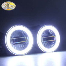 For Honda CR V BR V CITY JAZZ CR Z Civic Multifunction 3.5inch LED Fog Lights DRL With Daytime Running Lights Angle Eyes Ring