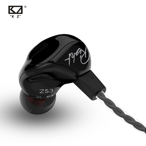 Image 1 - Yeni KZ ZS3 1DD Hifi spor kulak içi kulaklık dinamik sürücü gürültü önleyici mikrofonlu kulaklık yedek kablo AS10 BA10 ES4