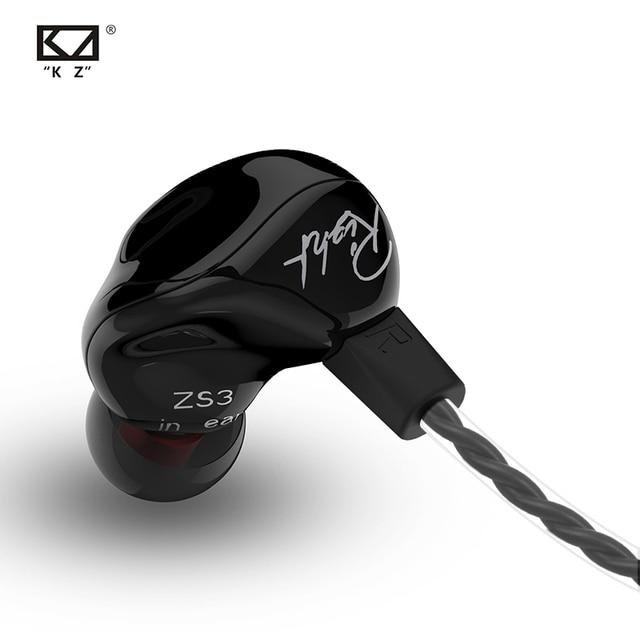 Yeni KZ ZS3 1DD Hifi spor kulak içi kulaklık dinamik sürücü gürültü önleyici mikrofonlu kulaklık yedek kablo AS10 BA10 ES4